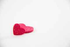 Two red heart Royalty Free Stock Image