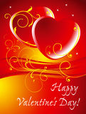 Two red hearts. Royalty Free Stock Photo