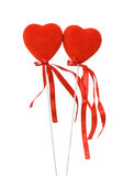 Two red hearts Stock Image