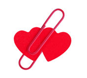 Two red hearts Royalty Free Stock Photography