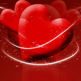 Two red hearts Royalty Free Stock Image