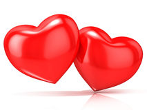Free Two Red Hearts Royalty Free Stock Images - 56617349