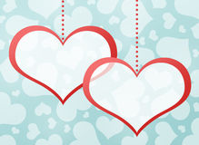 Two red hearts. Abstract background Royalty Free Stock Photos