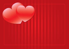 Two red hearts background royalty free stock photos