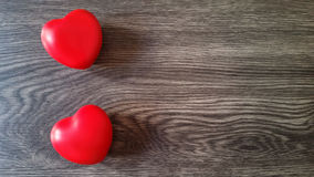 Two red hearts background Stock Photo