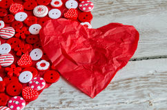 Two red hearts on background. Stock Image