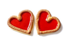 Two red hearts beating together Royalty Free Stock Photo