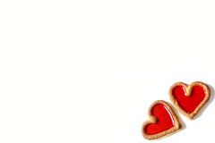 Two red hearts beating together Royalty Free Stock Photos