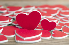 Two red hearts. Love concept Royalty Free Stock Images
