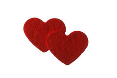 Two red hearts Royalty Free Stock Photos
