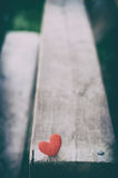 Two red hearts on wooden background Royalty Free Stock Photo