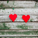 Two red hearts Stock Photography