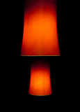 Two red interior lamps Royalty Free Stock Photos