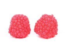 Two red jujube colored balls Royalty Free Stock Photo