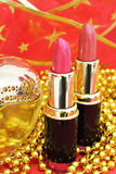 Two red lipstick Stock Image