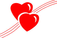 Hearts illustration Royalty Free Stock Photos