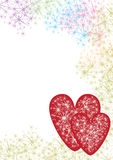 Two Red Loves With Stars_eps Royalty Free Stock Photos