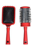 Two red massages comb Stock Images