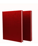 Two red notepads isolated Royalty Free Stock Photos