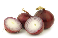 Two red onion halves Stock Photo
