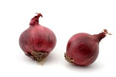 Two red onions Royalty Free Stock Photo