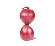 Two red onions. Royalty Free Stock Images
