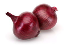 Two Red Onions Royalty Free Stock Image