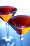 Two red-orange cocktails Stock Photography