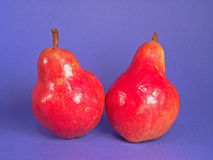 Two Red Organic Pears Stock Image