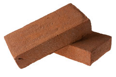 Two Red Ornamental Bricks Stock Images