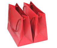 Two red paper bags Royalty Free Stock Image