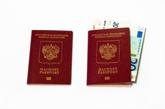 Two red passports Royalty Free Stock Photo