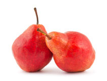 Two red pears Royalty Free Stock Photo