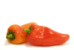 Two red peppers Royalty Free Stock Photography