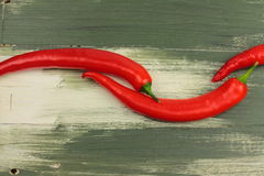 Two red peppers Stock Image