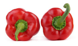 Two red peppers - up and down Stock Image