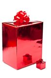 Two red presents Royalty Free Stock Images