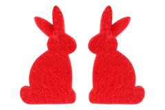 Two red rabbits Stock Photos