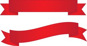 Two Red Ribbon Banners. Backgrounds to place text over Royalty Free Stock Photo
