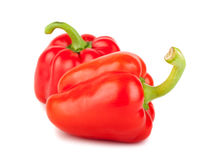 Two red ripe sweet peppers Royalty Free Stock Images