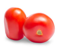 Two red ripe tomatoes Royalty Free Stock Image