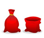 Two red sacks on a white background Royalty Free Stock Photography