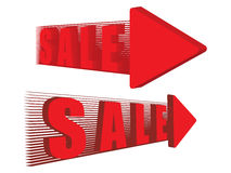 Two red sale pointers Stock Photo