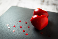 Two red stones heart Royalty Free Stock Image