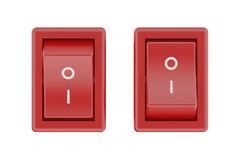Two red switch Royalty Free Stock Image