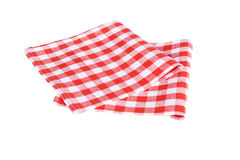 Two red table napkins on white background Stock Images