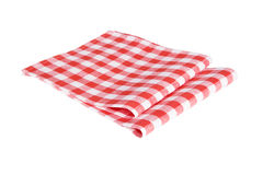 Two red table napkins. On white background isolated Stock Images