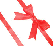 Two red tape placed diagonally Stock Image