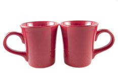 Two red tea cups Royalty Free Stock Photo