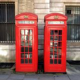 Two Red Telephone Boxes Royalty Free Stock Photography